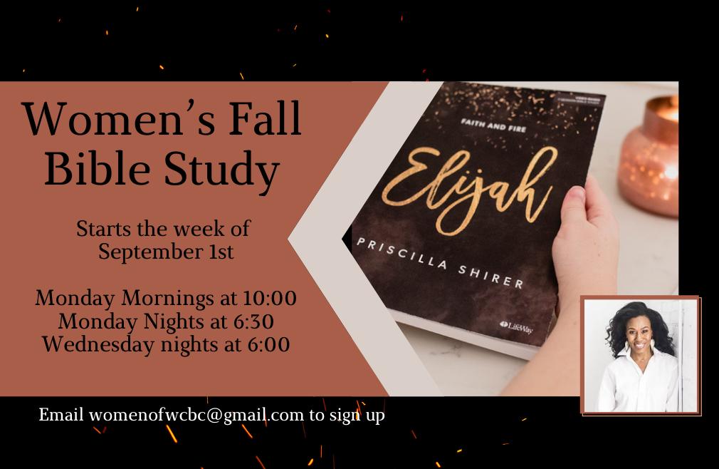 Elijah - Fall Women's Bible Study